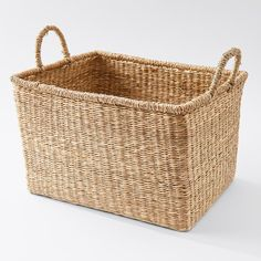 Our closed weave seagrass rectangle basket offers a simple yet stylish way to de-clutter your home. Made from seagrass, it'll look great in the.