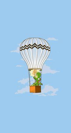 Dragon on hot air ballon
