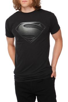 DC Comics Superman Man Of Steel Silver Logo T-Shirt | Hot Topic
