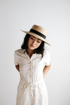 0c36f5ce040ca Dahlia Light Gray - Women's Boater Hat in 2018 | Products ...