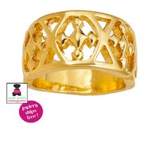 GRACEWEAR COLLECTION - 18k Gold Plated Shield of Faith Banded Ring
