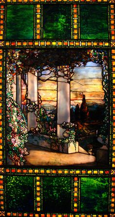 Tiffany Window   Cleveland Museum of Art, the detail in this piece follows with th other truly beautiful glass works i've posted lately.  *breathtaking*!