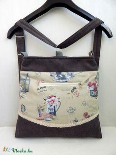 Provence Garden - variálható midi trapéz 3inOne hátizsák oldaltáska  (annetextil c579e09433
