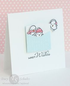 I can't get enough of these sweet birds- tucked in a tiny envie is even cuter! Info @ whoistracy.com