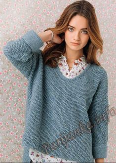 Пуловер (ж) 03*140 Phildar №4790