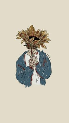 Ig: mglourys to drawing sunflowers Art And Illustration, Cartoon Wallpaper, Aesthetic Iphone Wallpaper, Aesthetic Wallpapers, Cute Wallpapers, Wallpaper Backgrounds, Iphone Wallpapers, Art Sketches, Art Drawings