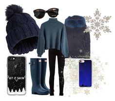 """*Casetify Plet it snow *"" by mercija ❤ liked on Polyvore featuring Hunter, Kenzo, Gucci, Miss Selfridge, Max&Co. and Casetify"