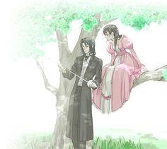 In the past, Saya and Haji -Blood+