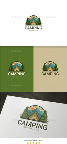 Camping #Logo - Nature Logo Templates Download here:  https://graphicriver.net/item/camping-logo/20102309?ref=alena994