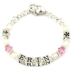 Gorgeous personalised baby bracelet.