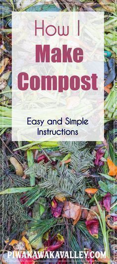 Composting doesn't have to be scary! Here are the simple directions for making a #compost pile to fertilize your garden and reduce your waste. Vegetable gardening, Veggie gardens Farming farming, Farm date, Permaculture design, mulching, mulch, self sufficient, Potager garden Landscaping, Backyard ideas, Permaculture, Aquaponics, Balconies, Compost, get started, start vegetable garden, tips, skills, frugal, survivalism, homesteading ideas, simple living, self sufficient small farm hacks…