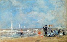 Boudin, Sur la plage