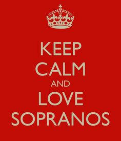 KEEP CALM AND LOVE SOPRANOS