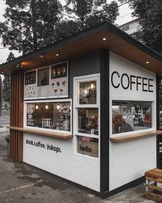 E-mail - Hubertina Simons - Outlook Cafe Shop Design, Kiosk Design, Cafe Interior Design, Brewery Interior, Small Cafe Design, Small Coffee Shop, Coffee Shop Bar, Coffee Store, Container Coffee Shop