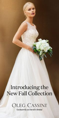 Brand new Oleg Cassini designer wedding dresses have arrived at David's Bridal. Come find the one for you!