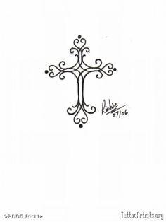 small henna style cross tattoo - Google Search