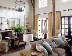 great interior finish for a lake home