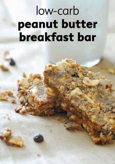 Low carb peanut butter breakfast bar