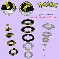 3D Ultra Ball free Pokemon perler beads iron beads pattern