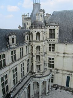 Loir-et-Cher (Loire Valley), France – Chambord Chateau 1519; exterior stairs