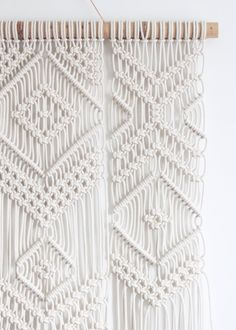 Macrame Wall Hanging TRIO 100% Cotton Cord in by JoJansenCo