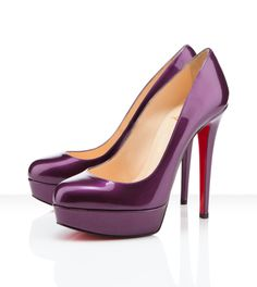 "Christian Louboutin purple ""Bianca"" pump (Would so wear these under my white gown)"