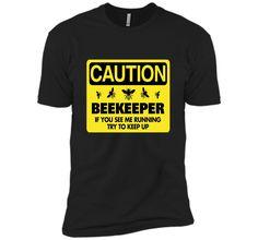 Beekeeper T-Shirt Beekeeping Shirt If You See Me Running Tee t-shirt