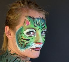 Face Painting - Creative Works By Camille - Moorpark, CA Painting Logo, Body Painting, Dragon Face Painting, Animal Paintings, Face Paintings, Face Painting Designs, Jungle Animals, Creative Words, Face Art