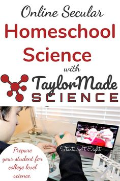 Taylor Made Science offers secular, lab-based science courses that promote science literacy and critical thinking skills. Prepare your student for college and for life! High School Curriculum, Science Student, Middle School Science, Science Education, Science For Kids, Canvas Learning Management System, Ap Environmental Science, Science Programs, Critical Thinking Skills