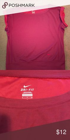 Nike top Coral colored Nike Dri-Fit tee. Great condition. Worn only a couple of times. Nike Tops Tees - Short Sleeve