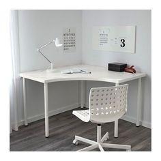 LINNMON / ADILS Corner table, white white 47 1/4x47 1/4