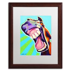 'That's a Good One' by DawgArt Framed Painting Print