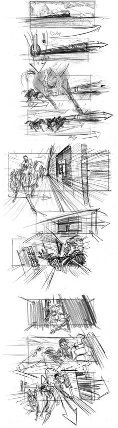 Storyboard for 'Priest', by Jeff Errico.