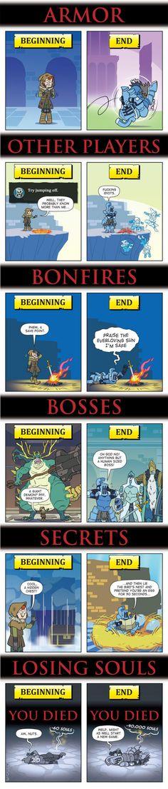 Dark Souls: Beginning Vs. End - 9GAG