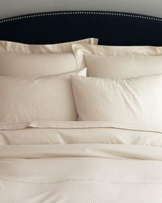 I just wanna jump in this bed! Frette Charme Sateen Bedding
