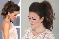 Peinado de novia en cola caballo alta y con volumen #bodas #elblogdemaríajosé #peinadonovia #coladecaballo