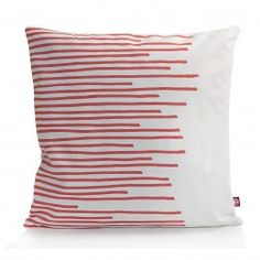 #Holland #Design Zierkissen Stripes in Weiß mit Koralle kaufen bei Holland Design & Gifts #HDG