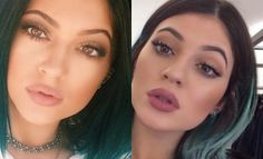 Kylie Jenner lipstick uncovered... Her MUA posted on Instagram that she only uses MAC Spice liner and fills in with it, nothing on top.???