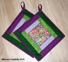 Do you have a fvourite frabric print you want to display? Make a set of pot holders, here is a quick and easy way:   From your favourite pri...