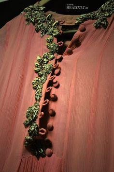 RIDHI MEHRA Details https://www.facebook.com/ridhimehra.1234 | Shop at http://www.perniaspopupshop.com/whats-new/ridhi-mehra-black-embroidered-sari-rmc0913s27.html
