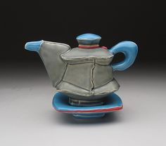 Chris Pickett Oil Can, 2014 white stoneware x x Ceramic Teapots, Ceramic Pottery, Bottles And Jars, Cup And Saucer, Art Museum, Stoneware, Vases, Tea Pots, Foundation