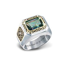 """The Legend Of Ireland"" Mystic Topaz Men's Ring"