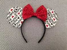 Mickey loves Minnie Mouse Ears by ThePrincessClub55 on Etsy