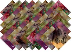 "BATIK VARIETY #5 COLLECTION 40 Precut 5"" QUILTING FABRIC SQUARES"