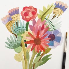 Bouquet in progress #sowaopenmarket #createeveryday #livecreatively #carveouttimeforart #art_we_inspire #dsfloral #artlicensing #licensing #surfacedesign #surfacedesigner #printandpattern #illustrationoftheday #creativewomen #bouquet