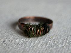 Copper Ring  Fairie Garden by underacoppersky on Etsy, $35.00