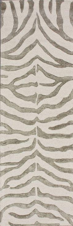 Earth Soft Zebra Gray Area Rug