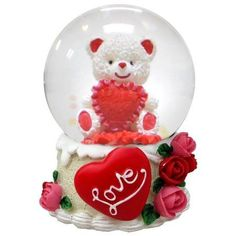 lightahead 45mm polyresin water globe valentine day gifts table top decoration teddy bear - Walmart Valentine Gifts