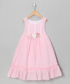 Take a look at this Pale Pink Flower Ruffle Dress - Toddler & Girls by Kid's Dream on #zulily today!