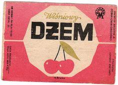 Old Polish jam labels